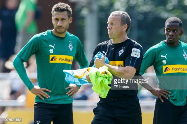 Assistant coach Frank Geideck of Moenchengladbach looks on during the Borussia Moenchengladbach training camp on July 25 2018 in RottachEgern Germany