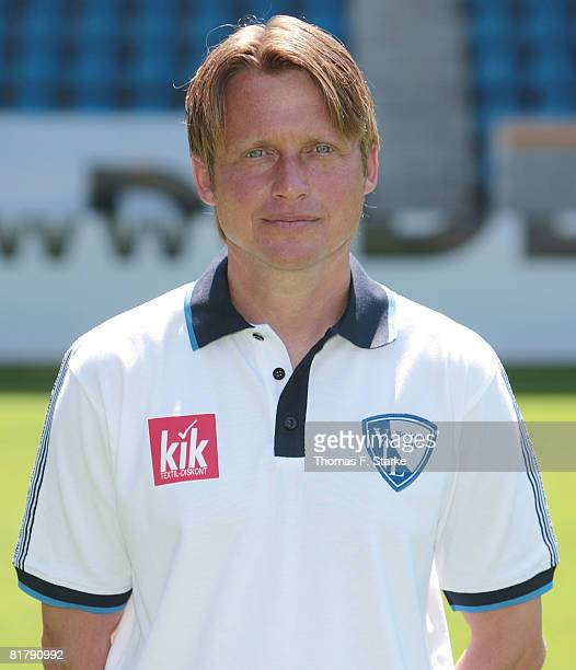 Assistant coach Frank Heinemann poses during the Bundesliga 1st Team Presentation of VfL Bochum at the rewirpower stadium on July 1 2008 in Bochum...