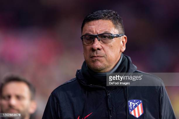 Assistant coach German Burgos of Atletico de Madrid looks on during the Liga match between Club Atletico de Madrid and Villarreal CF at Wanda...