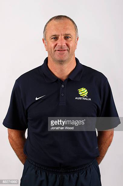 Assistant coach Graham Arnold poses during the Australian Socceroos portrait session at the Sofitel Grand Central on October 13 2008 in Brisbane...