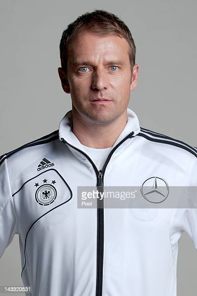 Assistant coach Hans-Dieter Flick of Germany poses during a national team photocall on November 14, 2011 in Hamburg, Germany.