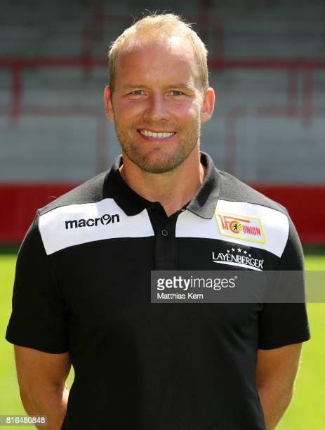 Assistant coach Henrik Pedersen of 1 FC Union Berlin poses during the team presentation at Stadion an der Alten Foersterei on July 17 2017 in Berlin...