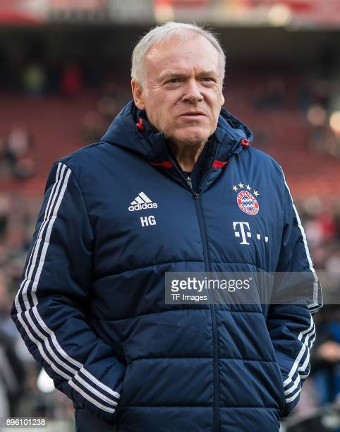 Assistant coach Hermann Gerland of Bayern Muenchen looks on during the Bundesliga match between VfB Stuttgart and FC Bayern Muenchen at MercedesBenz...