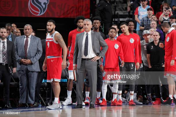 Assistant Coach Igor Kokoskov of the Sacramento Kings looks on during the game against the Oklahoma City Thunder on December 11, 2019 at Golden 1...