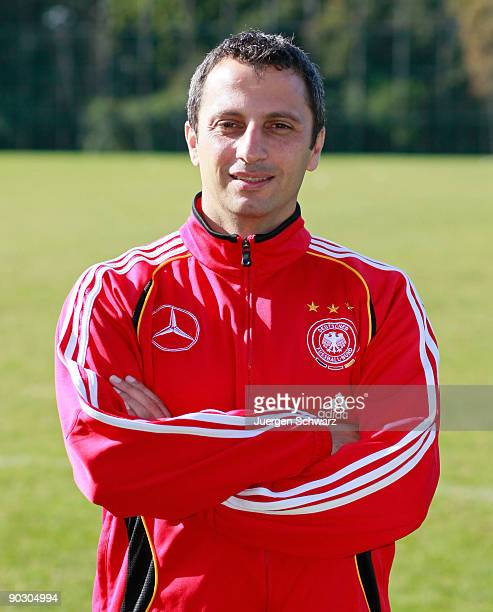 Assistant coach Iraklis Metaxas of the U19 National Team poses during the team presentation on September 2 2009 in Aachen Germany
