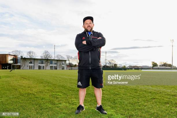 Assistant Coach Jason Ryan of the Crusaders poses following a Crusaders media conference at Rugby Park on July 24 2017 in Christchurch New Zealand