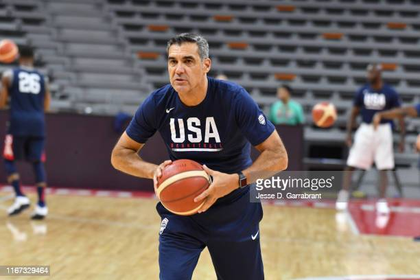 Assistant Coach Jay Wright of the USA Basketball Men's National Team during shoot around at the Dongguan Basketball Center on September 11, 2019 in...