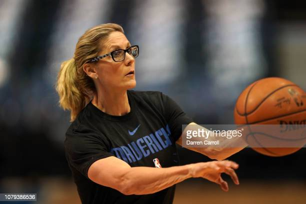 Assistant Coach Jenny Boucek of the Dallas Mavericks before the game against the Los Angeles Lakers on January 7 2019 at the American Airlines Center...