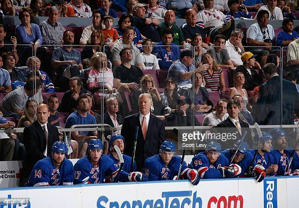 Assistant Coach Jim Schoenfeld of the New York Rangers takes over coaching duties for the suspended John Tortorella against the Washington Capitals...