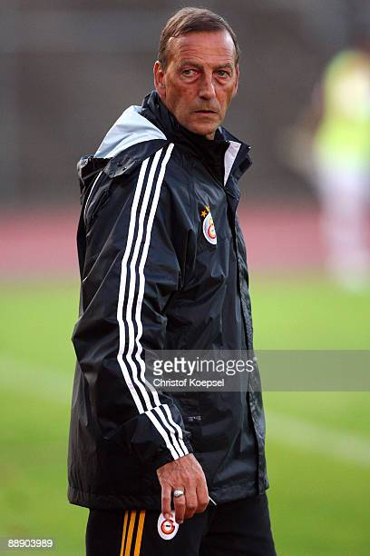 Assistant coach Johann Neeskens of Galatasaray is seen during the Zayon Cup match between Galatasaray Istanbul and Wydad AC Casablanca at the...