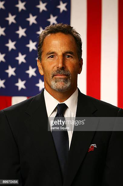 Assistant Coach John Tortorella poses for a portrait during the USA Olympic Men's Ice Hockey Orientation Camp on August 19 2009 at Seven Bridges Ice...