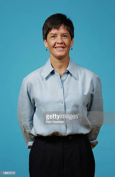 Assistant coach Julie Plank of the Indiana Fever during the Fever Media Day portrait shoot on May 6 2003 in Indianapolis Indiana NOTE TO USER User...