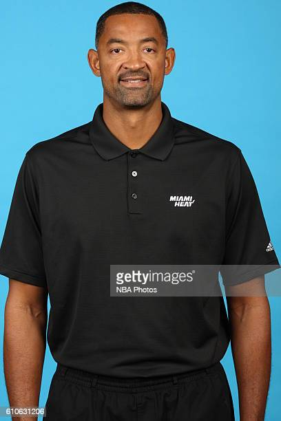 Assistant coach Juwan Howard of the Miami Heat poses for a head shot during the 20162017 Miami Heat Media Day on September 26 2016 at American...