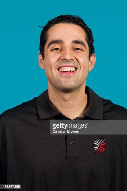 Assistant coach Kaleb Canales of the Portland Trail Blazers poses for a portrait during Media Day on December 16 2011 at the Rose Garden Arena in...