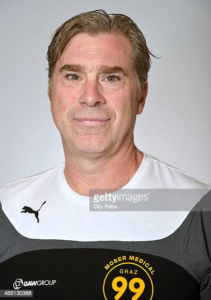 Assistant coach Kenny Fargnoli of Graz99ers during the portrait shot on august 17, 2014 in Landshut, Germany.