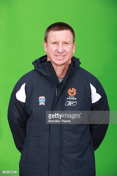 Assistant Coach Mark Jones poses during the official Newcastle Jets 2008/2009 Hyundai ALeague portrait session at EnergyAustralia Stadium on July 14...
