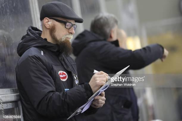 Assistant Coach Markus Peintner of Villach during the Vienna Capitals v EC VSV Erste Bank Eishockey Liga at Erste Bank Arena on January 18 2019 in...