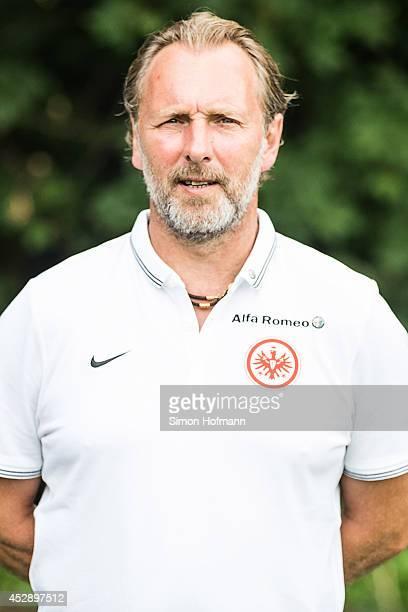 Assistant coach Matthias Hoenerbach poses during the Eintracht Frankfurt Team Presentation at CommerzbankArena on July 29 2014 in Frankfurt am Main...