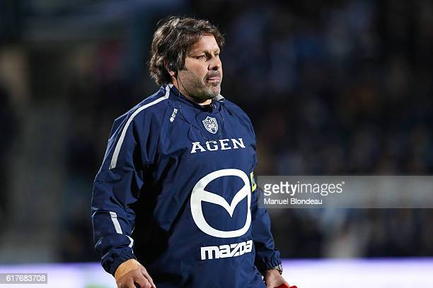 Assistant coach Mauricio Reggiardo of Agen during the Pro D2 match between Agen and Soyaux Angouleme on October 21 2016 in Agen France