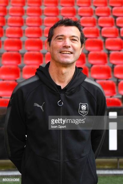 Assistant coach Michel Audrain during photoshooting of Stade Rennais for new season 2017/2018 on September 19 2017 in Rennes France