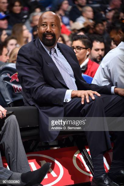 Assistant Coach Mike Woodson of the Los Angeles Clippers looks on during the game against the Sacramento Kings on December 26 2017 at STAPLES Center...