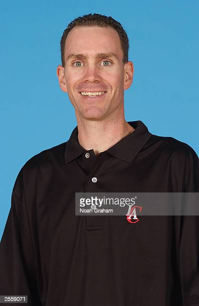Assistant coach Neal Meyer of the Los Angeles Clippers poses for a portrait during NBA Media Day at Staples Center on September 29 2003 in Los...