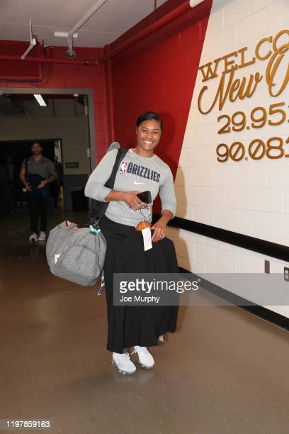 Assistant Coach Niele Ivey of the Memphis Grizzlies arrives prior to a game against the New Orleans Pelicans on January 31 2020 at FedExForum in...