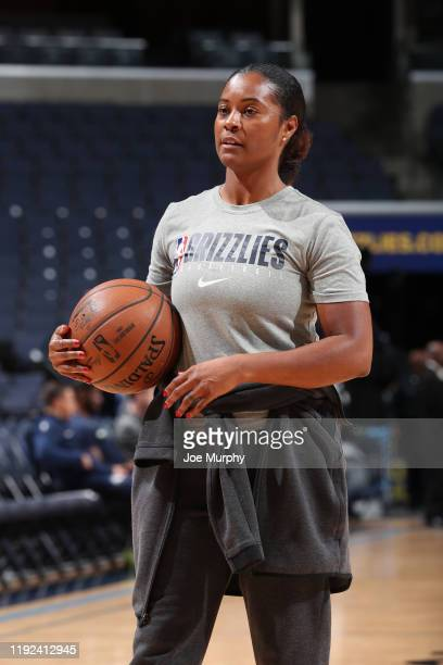 Assistant coach Niele Ivey of the Memphis Grizzlies looks on before the game on January 7 2020 at FedExForum in Memphis Tennessee NOTE TO USER User...