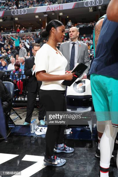 Assistant Coach Niele Ivey of the Memphis Grizzlies looks on during a game against the Detroit Pistons on February 3 2020 at FedExForum in Memphis...