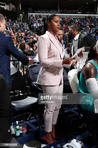 Assistant Coach Niele Ivey of the Memphis Grizzlies looks on during the game against the Miami Heat on December 16 2019 at FedExForum in Memphis...