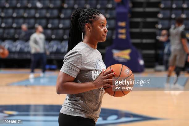 Assistant Coach Niele Ivey of the Memphis Grizzlies warms up before the game against the Orlando Magic on March 10 2020 at FedExForum in Memphis...