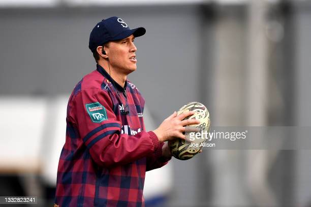 Assistant coach of Southland James Wilson looks on ahead of the round one Bunnings NPC match between Otago and Southland at Forsyth Barr Stadium, on...