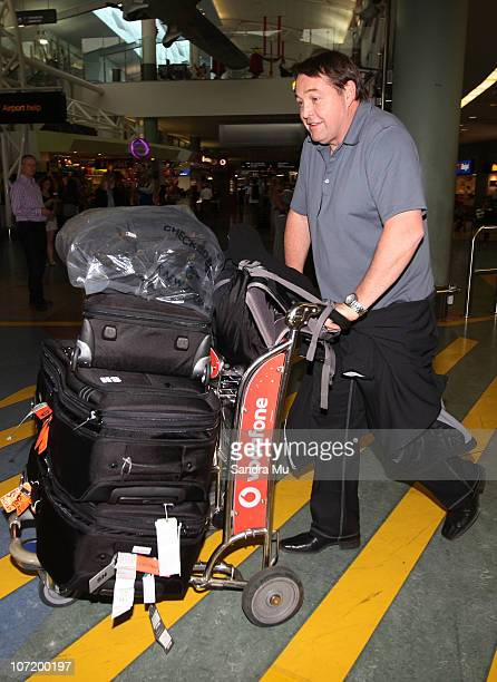 Assistant Coach of the All Blacks Steve Hansen arrives home at Auckland International Airport following the New Zealand All Blacks successful Grand...