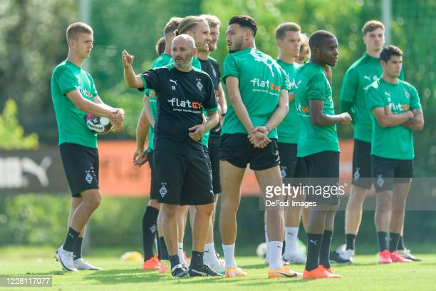 Assistant coach Oliver Neuville of Borussia Moenchengladbach gestures during day 3 of the pre-season summer training camp of Borussia...