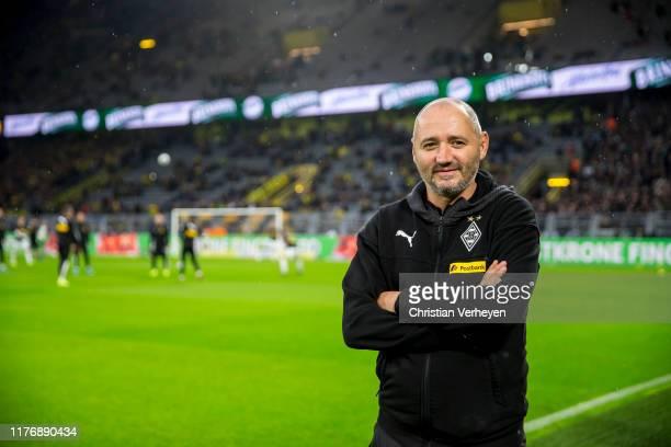 Assistant Coach Oliver Neuville of Borussia Moenchengladbach is seen ahead the Bundesliga match between Borussia Dortmund and Borussia...