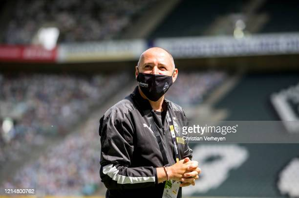 Assistant Coach Oliver Neuville of Borussia Moenchengladbach is seen before the Bundesliga match between Borussia Moenchengladbach and Bayer 04...