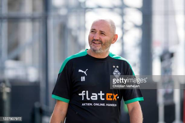 Assistant Coach Oliver Neuville of Borussia Moenchengladbach is seen during the first training session Season 2020/21 of Borussia Moenchengladbach at...
