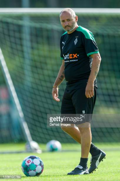 Assistant coach Oliver Neuville of Borussia Moenchengladbach looks on during day 2 of the pre-season summer training camp of Borussia...