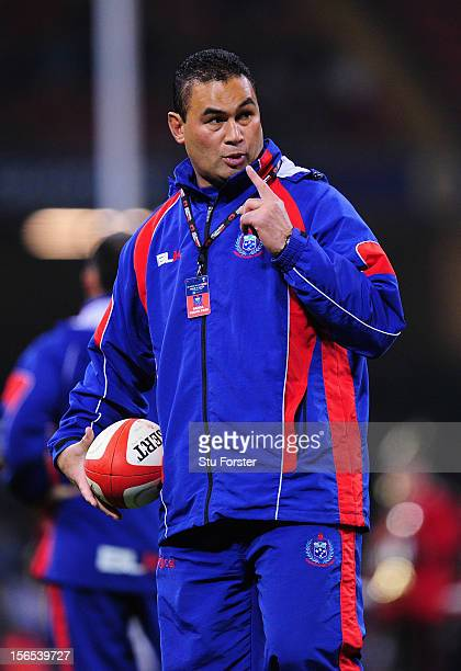 Assistant coach Pat Lam of Somoa looks on before the International Match between Wales and Samoa at Millennium Stadium on November 16 2012 in Cardiff...