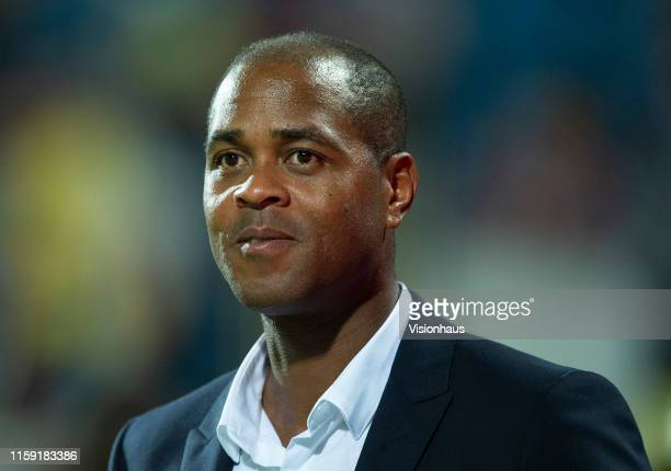 Assistant Coach Patrick Kluivert during the 2019 Africa Cup of Nations Group F match between Cameroon and Ghana at Ismailia Stadium on June 29 2019...