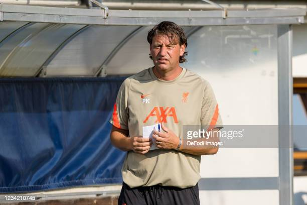 Assistant coach Peter Krawietz of Liverpool FC looks on prior to the Pre-Season Friendly Match between FC Liverpool and 1. FC Mainz 05 at...