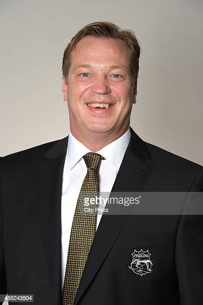 Assistant coach Reemt Pyka of Krefeld Pinguine during the portrait shot on august 14, 2014 in Krefeld, Germany.