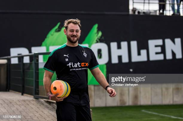 Assistant Coach Rene Maric of Borussia Moenchengladbach is seen during the first training session Season 2020/21 of Borussia Moenchengladbach at...