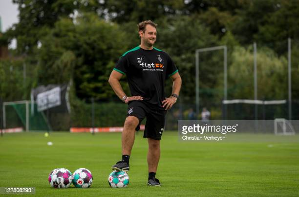 Assistant Coach Rene Maric of Borussia Moenchengladbach is seen during the Training Camp of Borussia Moenchengladbach at Klosterpforte on August 17...