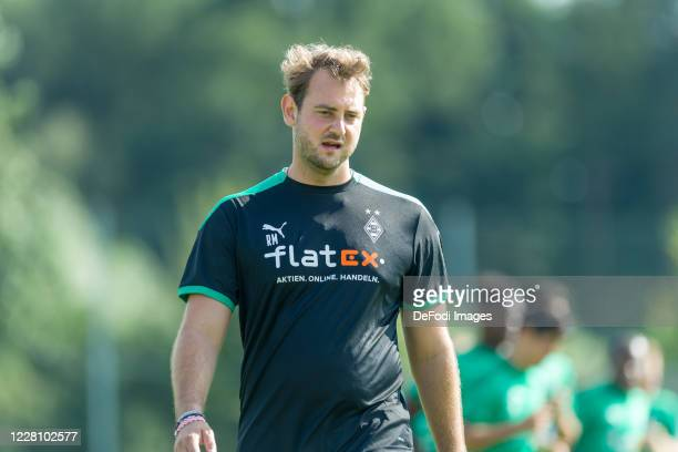 Assistant coach Rene Maric of Borussia Moenchengladbach looks on during day 2 of the pre-season summer training camp of Borussia Moenchengladbach on...