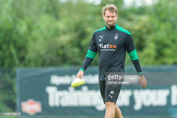 Assistant coach Rene Maric of Borussia Moenchengladbach looks on during day 4 of the pre-season summer training camp of Borussia Moenchengladbach on...