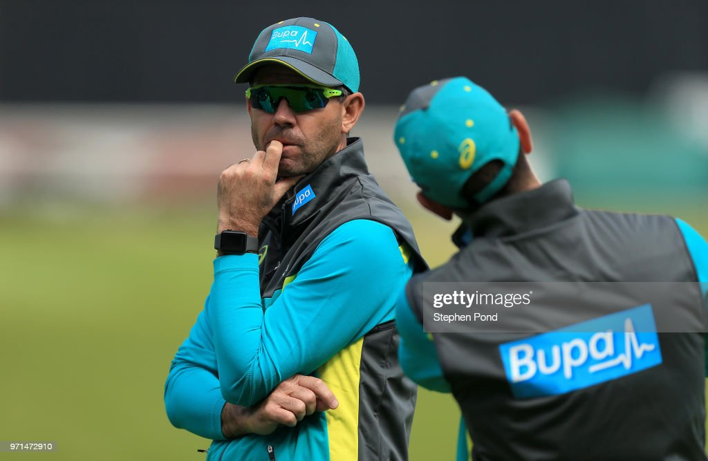 Assistant Coach Ricky Ponting of Australia during an Australia Net Session at The Kia Oval on June 11, 2018 in London, England.