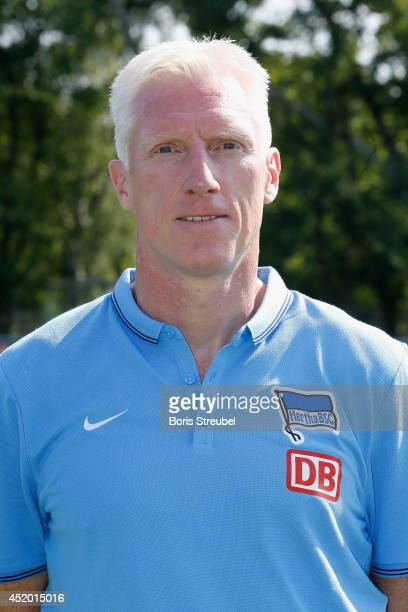 Assistant coach Rob Reekers of Berlin poses during the Hertha BSC Berlin Team Presentation at Schenckendorfplatz on July 11 2014 in Berlin Germany
