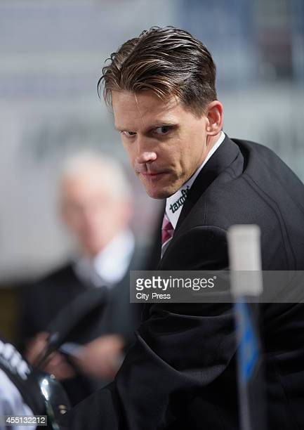 Assistant coach Ron Pasco of Koelner Haie looks on during the action shot on august 15 2014 in Iserlohn Germany