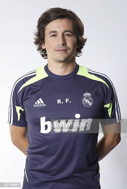 Assistant coach Rui Faria poses during the Real Madrid CF presentation at Valdebebas training ground on September 13 2012 in Madrid Spain